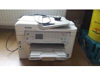 Epson Printer Wf-3530 DF + full set of ink cartridges