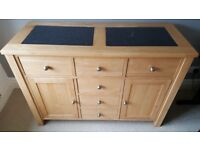 Sideboard with granite panels