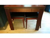 Walnut Dining table and 6 chairs from Homebase