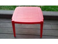 Red table & 2 chairs for children