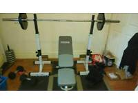 olympic squat/bench rack and bench