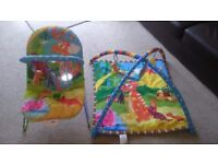 Baby play activity gym and baby bouncer set