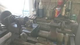 DRUMMOND METAL LATHE 105 mm centre x