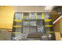 Silver screw from Screwfirx and Stanley organiser