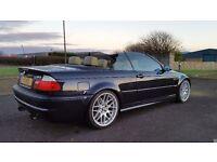 2002 BMW M3 SMG CONVERTIBLE CARBON BLACK 100,000 MILES SAT NAV PRIVATE REG