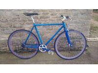 Small/Medium Create Fixed gear single speed fixie road bike 56cm TT 50cm ST