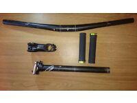 Bontrager Rhythm mountain hybrid road bike handlebar stem grips seatpost giant scott trek specialize