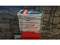 Red nintendo wii games 2 remotes