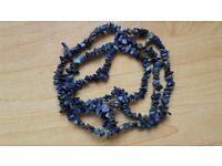 2 blue stones necklaces / double bracelets