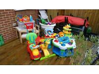 Job lot of toys and children table and chairs