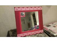 Young girls mirror