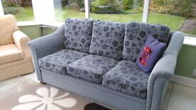 Sofa 3 seater with a blue floral