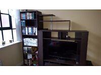 Tv unit, bookcase and shelf