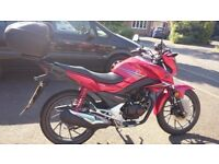 2017 Honda CB125F for sale - In as new condition - Very low mileage