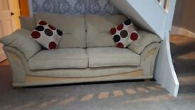 Harveys 3 seater cream fabric sofa