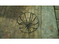 Cast iron hanging baskets