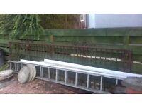 Wide metal open spar driveway/garden gate. 3800mm high by 910mm high.