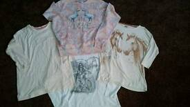 FOUR GIRLS LONG SLEEVED TOPS AGE 12-13