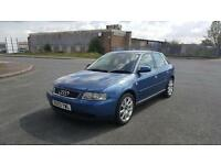 Audi A3 Sport 1.6 2003 5 doors black Leather interior 17 inch wheels 1 year MOT