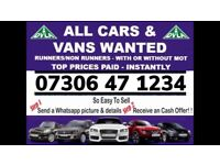♻️ All car van 4x4 wanted sell my scrap damaged non runner fast cash on collection