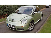 2006 VW BEETLE LUNA 1.4 PETROL ONE OWNER LOW MILEAGE FULL SERVICE HISTORY,EXELENT COND.