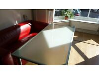 Frosted Glass Table/Desks - 11 available