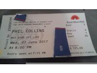 1x phil collins ticket royal albert hall