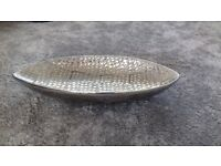 large silver grey dish bowl decorative ordiment