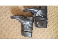 Black leather boots size 7