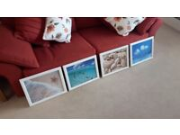 Sea scape framed pictures x4