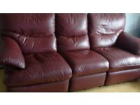 Leather Settee 3+2+2 Manual recliner