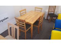 Julian Bowen Cleo Dining Table & 4 Chairs Can Deliver Viewing Collection Welcome