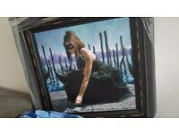 "Limited Edition ""Venice"" by Fabian Perez, Perfect Condition: Giclée on Canvas"
