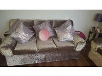 Beautiful velvet sofa