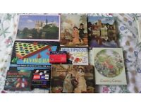 Vintage jigsaw puzzles and games