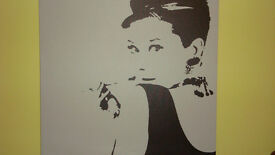 AUDREY HEPBURN PRINT ON CANVAS