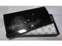 New Chanel Leather Clutch Handbag Bag Purse Black Box (also have MK Michael Kors Chanel YSL)