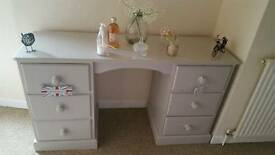 Solid pine dressing table. Painted in Farrow and Ball.