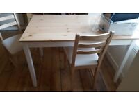 New dinning table with 4 chairs from IKEA