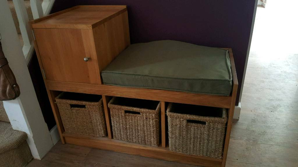 Oak Entrance Hall Seat And Shoe Storage In West Horsley