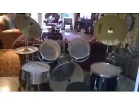 A full size set of drums