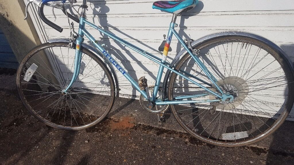 vintage peugeot riviera adult ladies road bike racer 20"