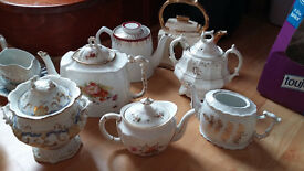 Antiques for sale including tea cups, tea pots, Perfect for a Wedding, Party, Decoration, Crafts