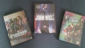 3 New un-open DVD's John Wick 2 - Guardians of the Galaxy 2 and Suicide Squad
