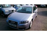 2006 AUDI 1.6 A3 3 DOOR HATCH IN SILVER MAY 2017 MOT DONE 110K WITH F/S/H ALLOYS CD AIRCON E/W E/M +