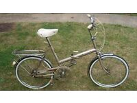 Vintage Raleigh Folding 3-Speed Bike in Perefect Order