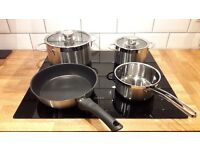 Neff Induction 4 Zone Hob including set of 4 pans (NEW)