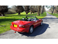 Eunos Roadster 1.6 16V Petrol Auto with Overdrive soft top like Mazda MX5 MOT until Feb 2018