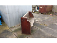 """used church pew 4`6""""x33""""x18"""" in decent condition"""