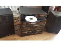 Technics receiver aux tunner cassette deck cd player